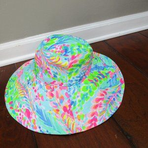 Lilly Pulitzer GWP Catch the Wave Beach Hat Small
